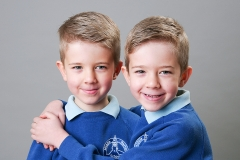Colour school portrait picture of twin boys in school uniform2018 Jan test-42